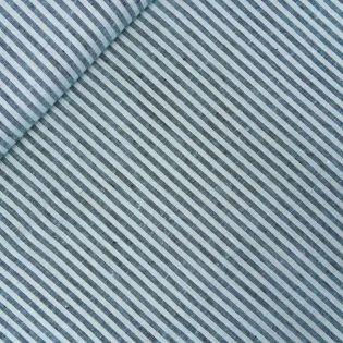 Cioni-Leinen - Streifen - hellblau