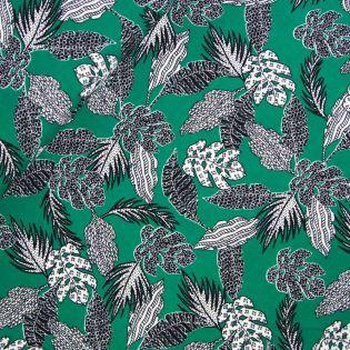 Viskose - Muster in Palmenblätter - Inkjet