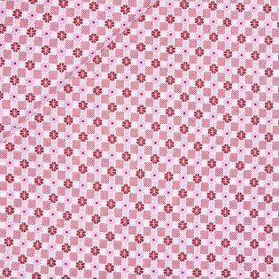 Viskose Stretch - Blütenkacheln - rosa-rot