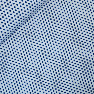 French Terry - Dots - blau-grau