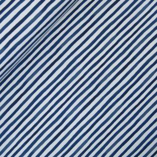 French Terry - Stripes - blau-grau