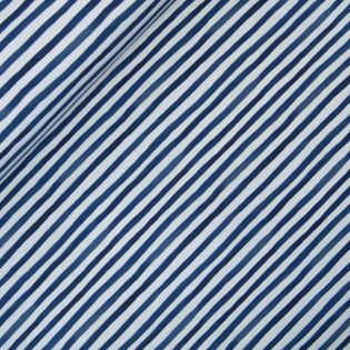 French Terry - Stripes - blau-grau