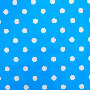 Wachstuch - weisse Punkte - blau