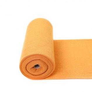 Bündchen - geringelt - gelb-orange