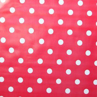Wachstuch - weisse Punkte - rot