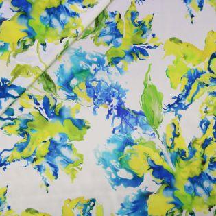 Seidenstretch-Satin - Aquarell-Blätter