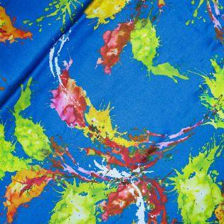 Viskose - bunte Farbflecken