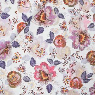 Viskose - romantische Blumen