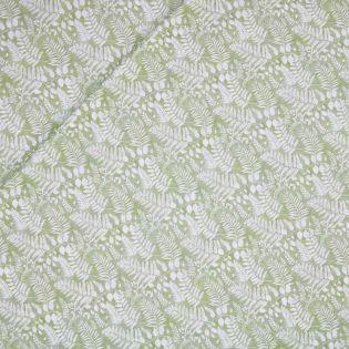 Baumwollvoile - Palmenblätter - grün