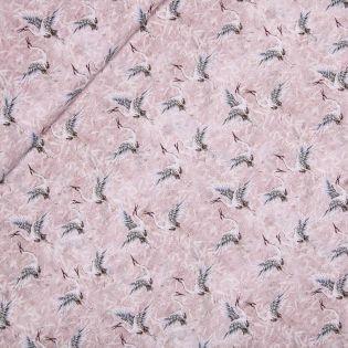 Baumwollvoile - Storchenliebe