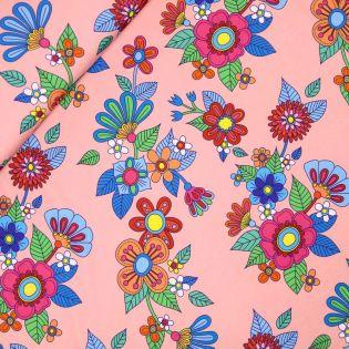 Albstoffe - SHIELD PRO - Retro-Flowers