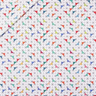 Baumwolle - beschichtet - bunte Dreiecke