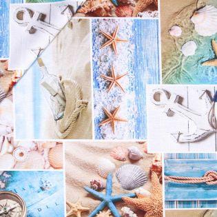 Baumwolle - beschichtet - Strandleben