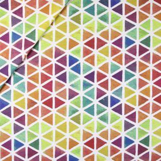 Baumwolle - beschichtet - aquarelle Dreiecke