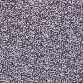 Baumwolle - Edelweiß - blau