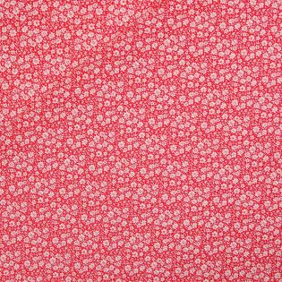 Baumwolle - Edelweiß - rot