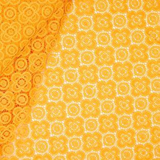 Stretch-Spitze - uni - gelb