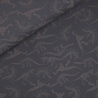 Softshell - Dinosaurier-Skelette - Glow in the Dark - grau