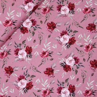 French Terry - Roses - altrosa
