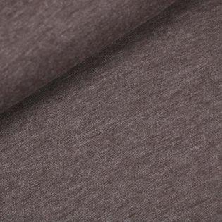 Jersey-Strick - melange - braun