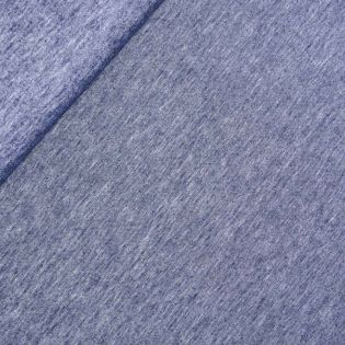 Leinen-Baumwolle - Batik - uni - blau
