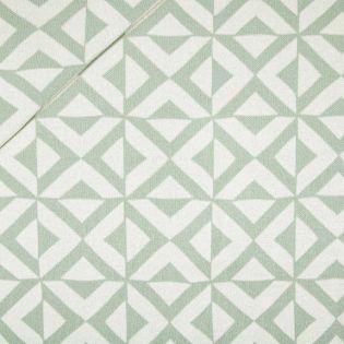 Flach-Strickjersey - Exklusiv - Geometrisches Muster - mint
