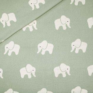 Flach-Strickjersey - Exklusiv - Elefanten