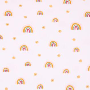 Sweatshirt - Regenbogen -weiß