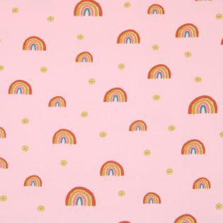 Sweatshirt - Regenbogen -rosé