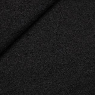 Schurwolle - uni - schwarz