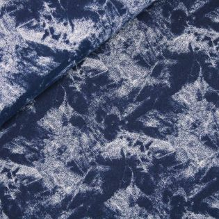Sweatshirt - blau - marmoriert