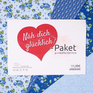 Näh dich glücklich-Paket - blau