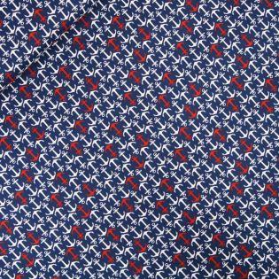 Baumwolle - AHOI - Anker - blau