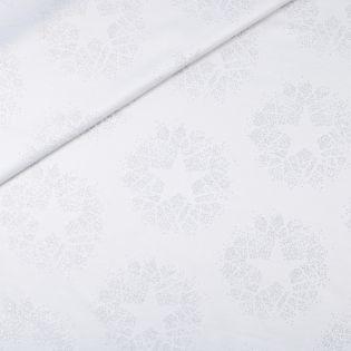 Dekostoff - Jacquard - Weihnachten - Glitzersterne