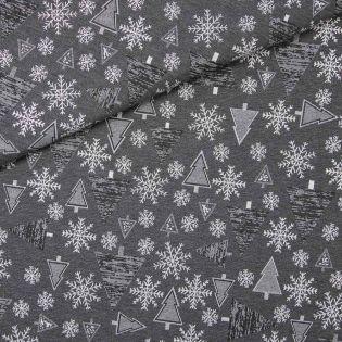 Dekostoff - Jacquard - Weihnachtsglitzer