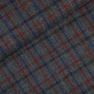 Original Harris Tweed - Herringbone - kariert - blau - rot