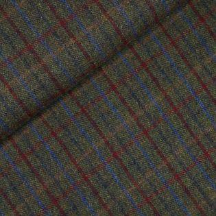 Original Harris Tweed - Herringbone - kariert - grün - blau - rot