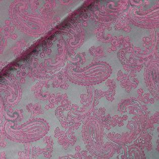 Futterstoff - Jacquard - grau-pink