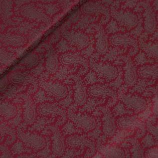 Futterstoff - Viskose - Paisley - rot-grau