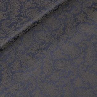 Futterstoff - Viskose - Paisley - blau-braun