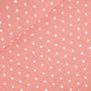 Baumwoll-Stickerei - Punkte - apricot