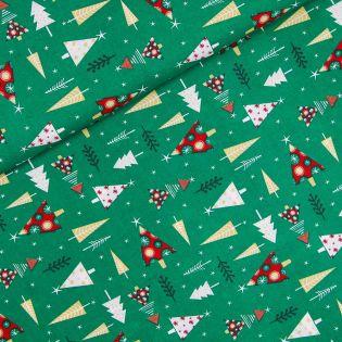 Baumwolle - Weihnachten - Weihnachtsbaum - grün