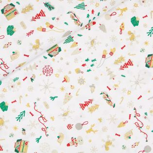 Baumwolle - Weihnachten - Winterzauber - weiß