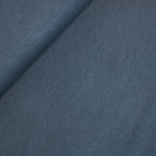 Leinen-Viskosejersey - uni - blau