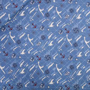 Baumwolle - WATERKANT - blau