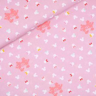 Baumwolle - Mickey und Minnie - rosa