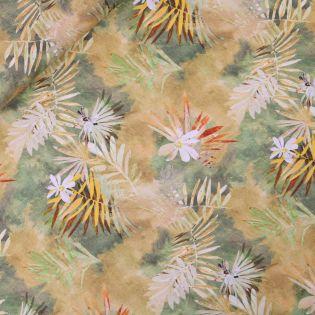 Leinen - Blüten&Blättermix