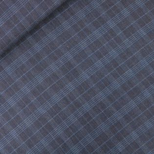 Baumwolle - Karostoff - Glencheck - dunkelblau