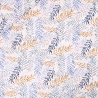 Baumwollvoile - gestempelte Zweige - bunt