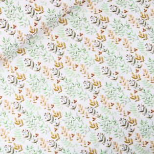 Baumwolle - Musselin - zarte Blätter